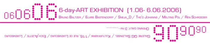 060606 group exhibition invite